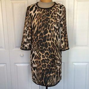 MNG Leopard 3/4 sleeve shift dress 2